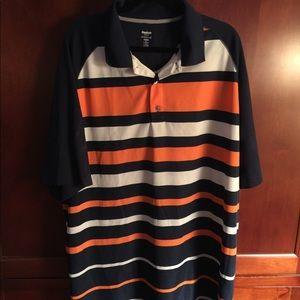 Men's Big and Tall Reebok Stripe Golf Shirt 3xlt